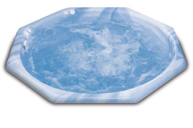 Гидромассажный бассейн Inca SE 400-10 (дюзы из нерж. стали, цифровая панель управления, цветные LED, без покрытия), возможно разные цвета ванны — необходим моноблок с оборудованием!