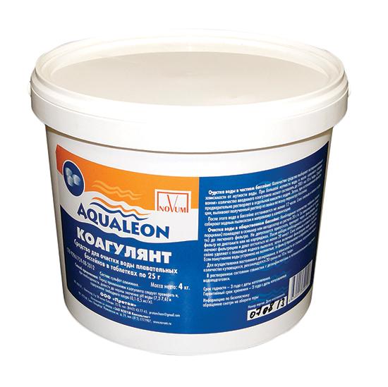 Коагулянт таблетированный Aqualeon, средство против мутности воды, 4 кг