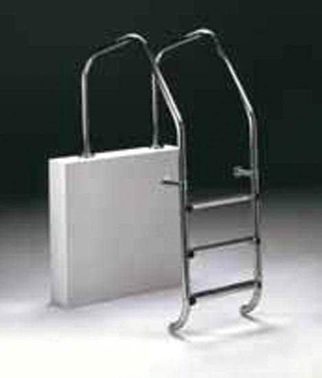 Лестница  Aqualine, нерж. сталь V4A, 4 ступени с противоскользящими накладками