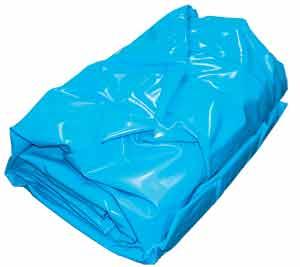Вкладыш для бассейна овальной формы 4,90 x 3,00 m, h= 1,50 m, толщина пленки 0,6 mm синий (зажимной монтаж)