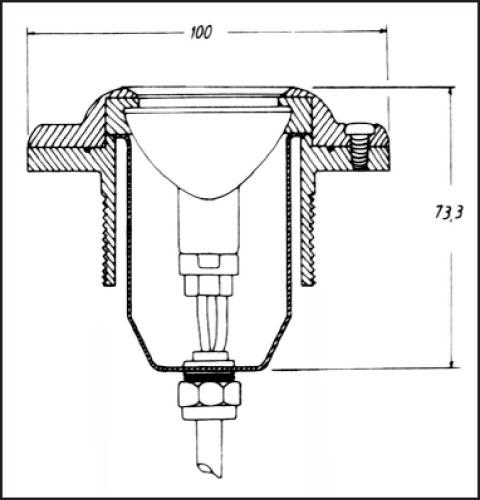 Фонарь 35 Вт, 12 В, для тонкостенных бассейнов