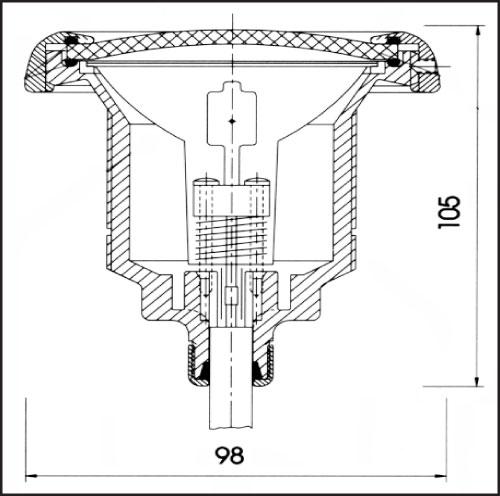 Фонарь SPL III, 50 Вт х 12 В, рамка из белого пластика