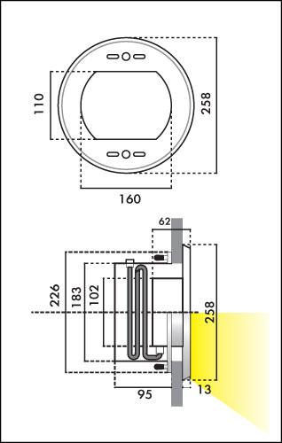 Фонарь QT 16, 175 Вт, 12 В, стекло прозрачное