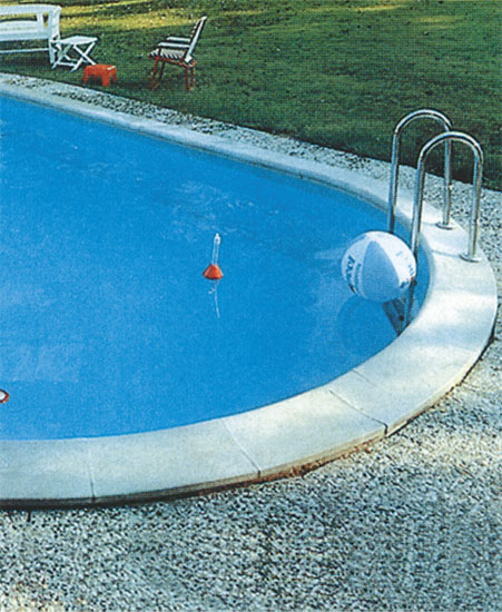 Покрытие для сборного овального бассейна 7,50 х 3,50 м