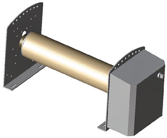 Барабан ACOE 65, вал — нерж. сталь, диам. 154 мм, длина вала до 9,00 м, высота оси 320 мм