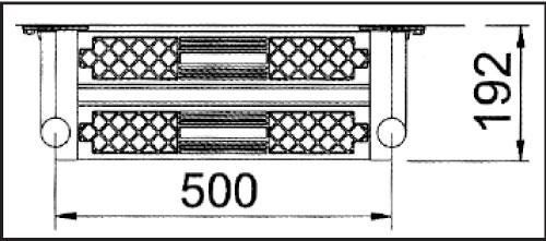 Лестница РОЛЛИ 2 ступени, нижняя часть, ступени с противоскольз. накладками, верхная ступень двойная