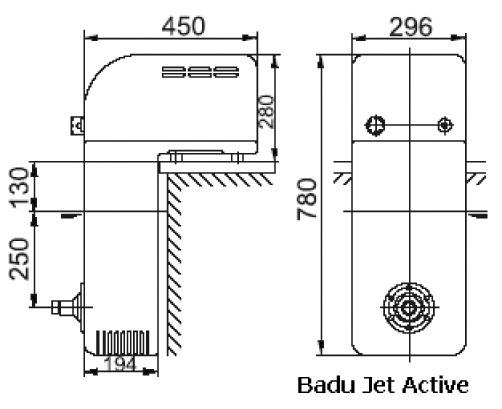 Противоток навесной BADU Jet Active V2, 220 В, 0,75 кВт, дюза 28 мм