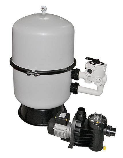 Фильтровальная установка Saphir 6, емкость диам. 400 мм, 0,45 кВт, 220 В, 6 м3/ч, клапан 6-поз.