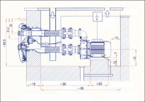 Закладной короб противотоков BADU Jet Smart/wave/vogue (с 03/2009)
