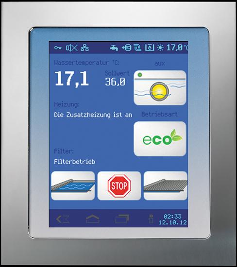 Euromatik.net, комплект управления бассейном с управлением через интернет, без привода для клапана