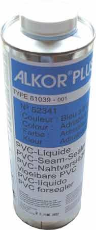 Жидкость для обработки шва в цвет пленки, темно-голубая, 1л