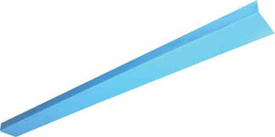 Спец. жестяной уголок (внутренний) для крепления пленки, 90°, 7 х 3 см (продажа только по 2 м) за м