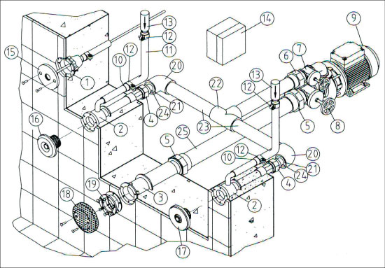 Закладной комплект гидромассажной установки Standard