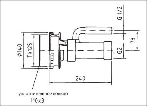 Закладной комплект гидромассажной установки Combi-Whirl 1