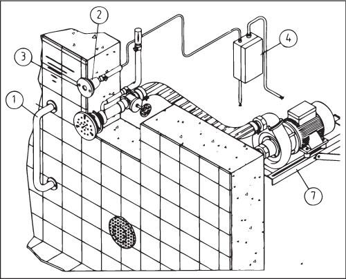 Кронштейн для насоса противотоков Taifun/Duo/Tornado/Essence/Combi-Whirl, для насосов 1,5/2,2/2,6 кВт.