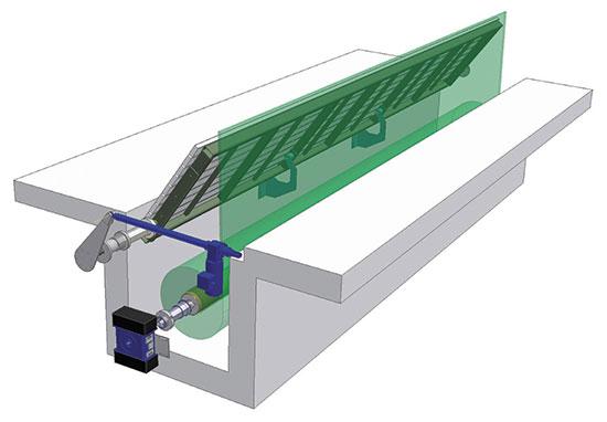 Привод для автоматического открытия шахты, комплект со стен. проходом