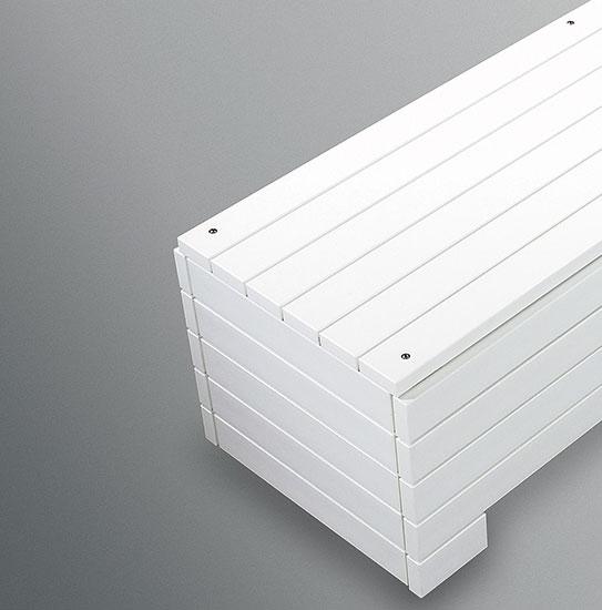 Облицовка одного торца из PVC-профилей 80 х 30 мм, серая, (размер 2)