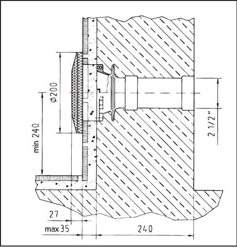 Всасывающий элемент, бронза, с крышкой из нержавеющей стали DN  65, диаметр 200 мм, подключение внутр. резьба 2 1/2