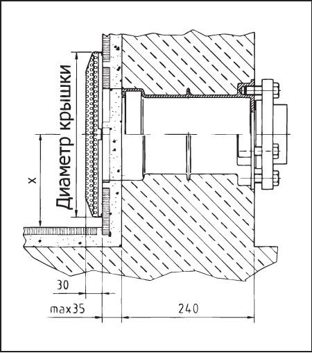 Всасывающий элемент, бронза, с крышкой из нержавеющей стали DN  80, диаметр 350 мм