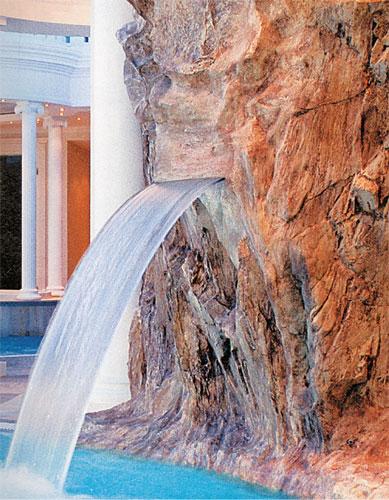 Водопад декоративный из ABS- пластика, для встраивания, ширина 60 см