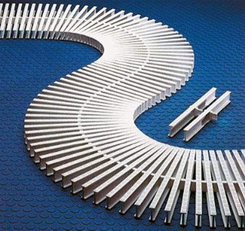 Профиль для укладки переливной решетки 24 х 37 мм, цена за 1 м