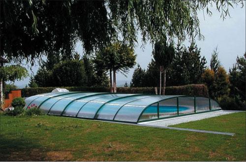 Dallas A, раздвижной навес для бассейна, цвет ELOX или 703, 406 X 646 X 75 см (трансп. уп-ка 420 х 45 х 135 см)