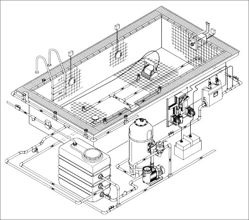Компенсационная емкость  2000 л, 2150 х 760 х 1510 мм