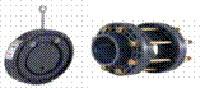 Обратный клапан межфланцевый 90 мм NOVUM с монтажным комплектом/фланцами