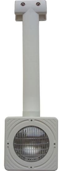 Фонарь Euro 1, 75 Вт, накладной, с квадратной рамой с трансформатором, БЕЗ светофильтров