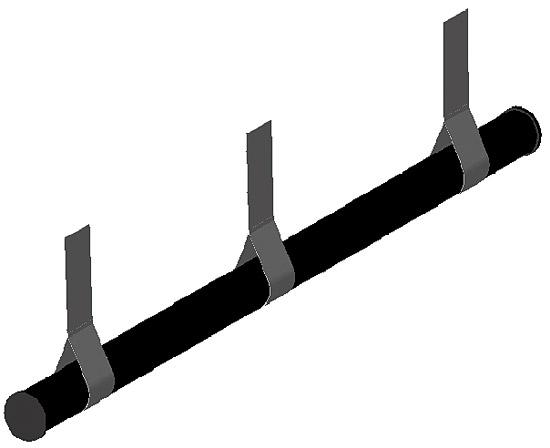 Устройство для поддержания покрытия в комплекте с крепежом, для бассейна шириной до 4 м