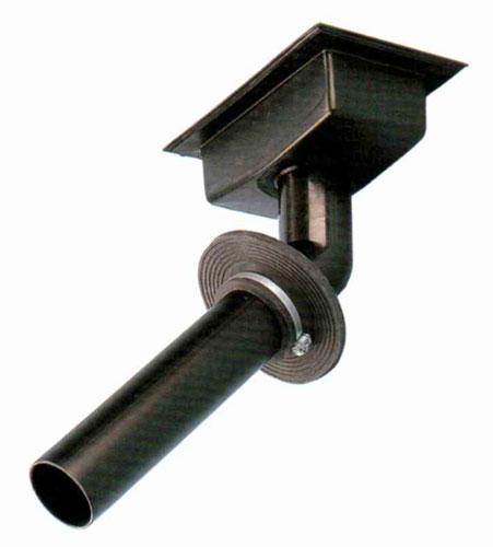 Сливной элемент, закладной для переливного канала, подкл. 75 мм (полиэтилен)