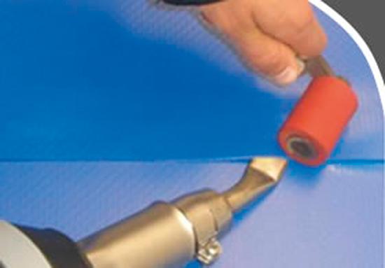Рифлёное нескользящее покрытие, темно-голубое, рулон 1,65 X 10 м (цена за м.кв.), варится поверх гладкого покрытия