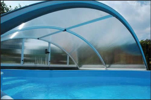 -Classic A, павильон для бассейна (модель 2016) 360 х 646 х 100 см, цвет ELOX или 703, подготовлен для сборки и упакован