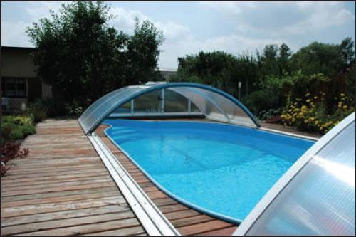 -Classic C, павильон для бассейна (модель 2016) 570 х 1073 х 155 см, цвет ELOX или 703, подготовлен для сборки и упакован