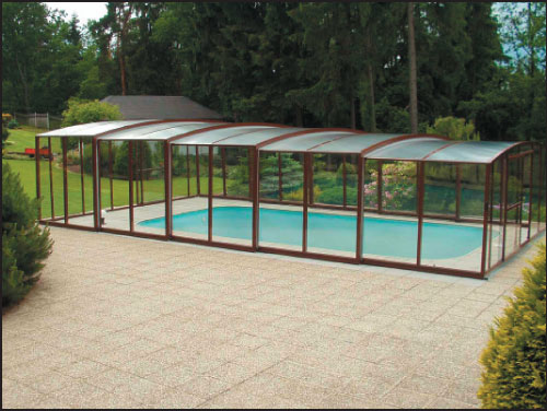 Casablanca A,  павильон для бассейна, 578 х 966 х 263 см, цвет на выбор, подготовлен для сборки и упакован