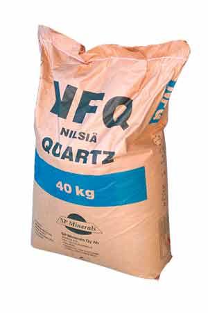 Песок кварцевый 0.7-1.2 мм, мешок 40 кг