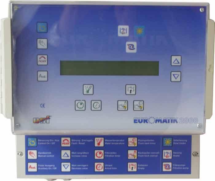 Euromatik-2000, комплект управления бассейном без привода для клапана