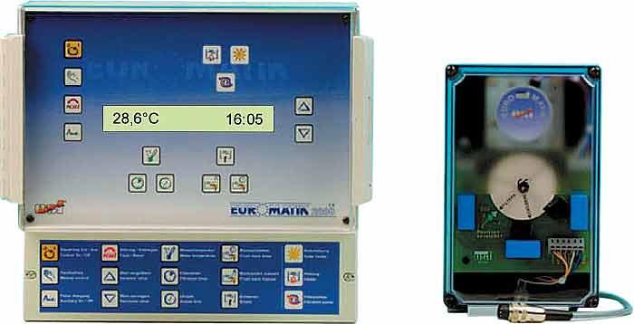 Euromatik-2000, комплект управления бассейном с приводом для клапана