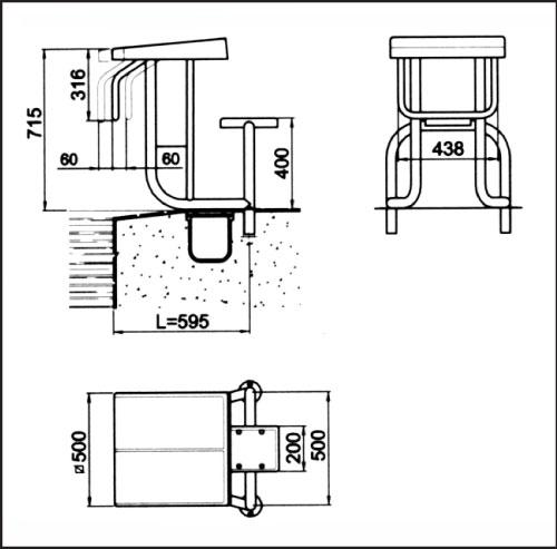 Стартовая тумба Стандарт 2, высота 0,7 м, без крепления арт.0014300000 2 шт. (не входят в комплект)