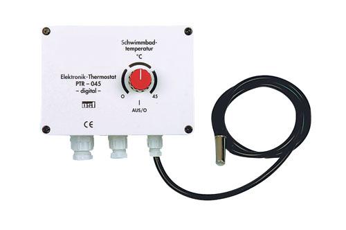 Электронный регулятор температуры 0-45 °C, 230 В, до 2,2 кВт