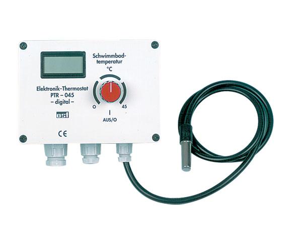 Электронный регулятор температуры 0-45 °C, 230 В, до 2,2 кВт с дисплеем температуры
