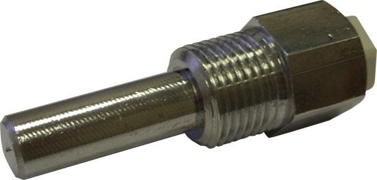 Гильза для датчика температуры, диам. 10 мм, длина 35 мм, для блоков LC, PC и регулятора температуры и др., хром. латунь