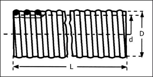 Шланг PVC внутр.клейка 38 мм, PN 5 (38 х 45 мм, прозрачный, зеленый, бухта 50 м)