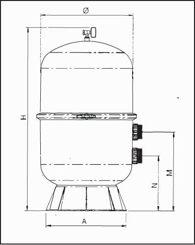 Фильтровальная емкость  Saphir 140, 600 мм, без клапана