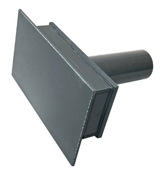 Сливной элемент, закладной для переливного канала, подкл. 75 мм, PVC