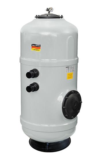 Фильтровальная емкость NOVUM Hamburg 500 мм, серый цвет, без клапана 1 1/2