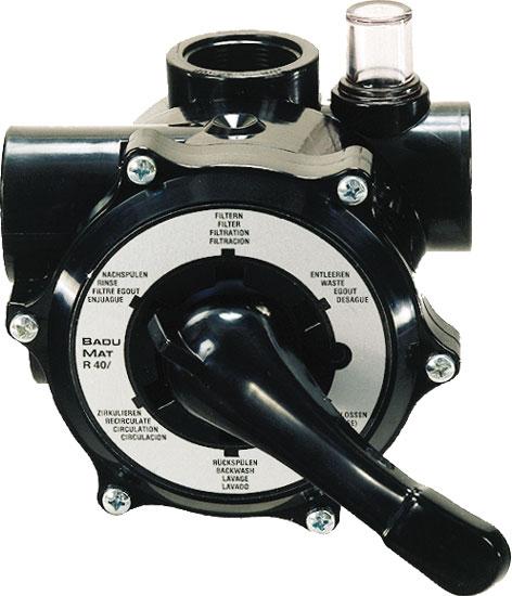 Клапан 6-позиционный  2 резьба, с фитингами подключения для фильтра для фильтра Hamburg, Cristall, Stuttgart