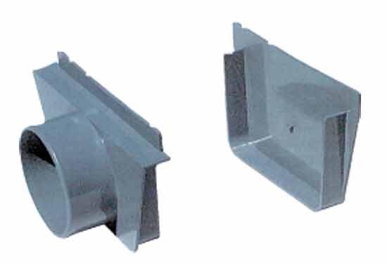 Канал перелива, комплект торцевых заглушек с 1 подкл. 110 мм