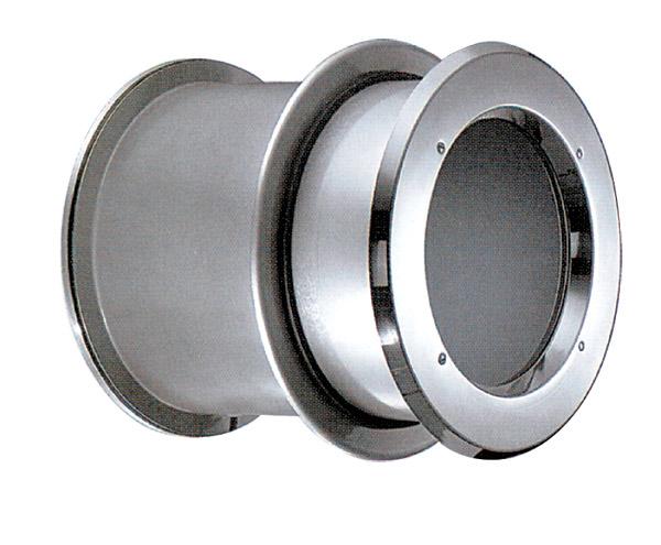 Окно круглое из нерж. стали, диам. 0,49 м, с фланцем