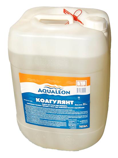 Коагулянт Aqualeon, средство против мутности воды, канистра 35 кг (30л)